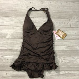 Juicy Couture • NWT Ruched Halter Swim Dress